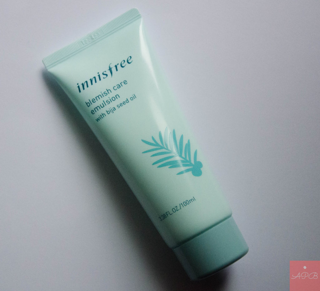 Innisfree blemish care emulsion with bija seed oil